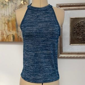 High Neck Tank, Small, Teal
